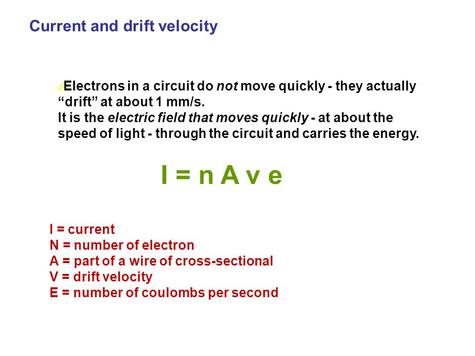 " Electrons in a circuit do not move quickly - they actually ""drift"" at about 1 mm/s. It is the electric field that moves quickly - at about the speed"