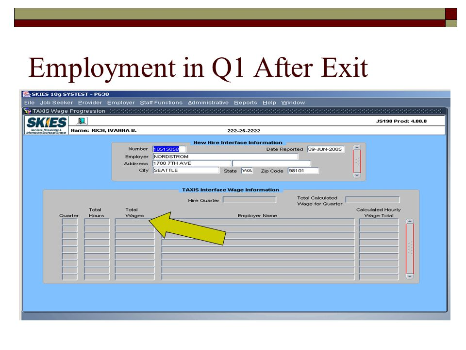 Employment in Q1 After Exit