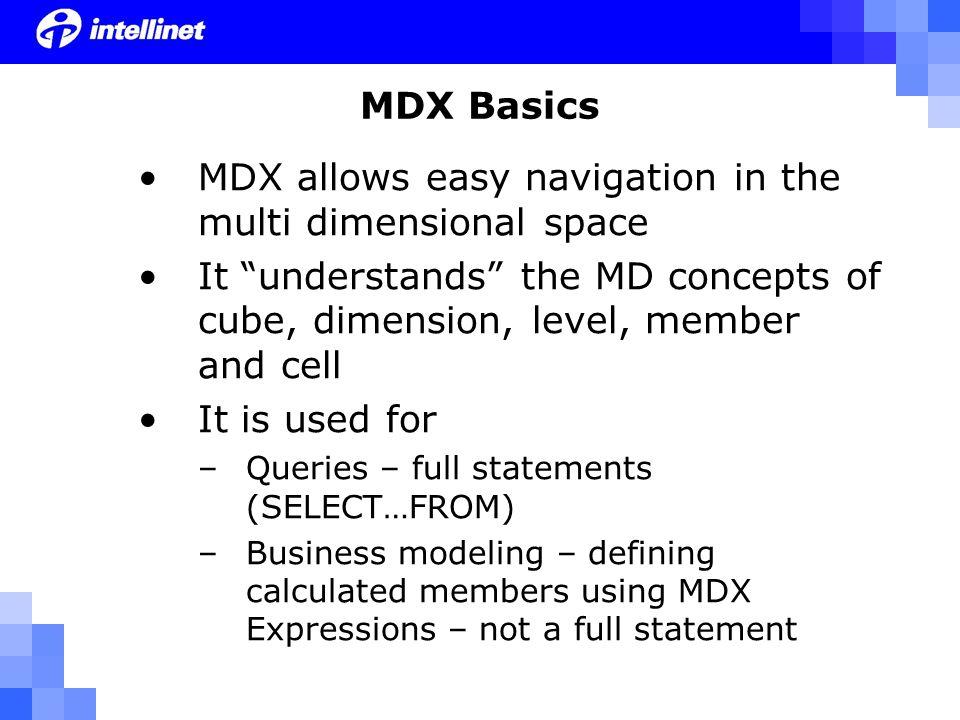MDX Queries vs.