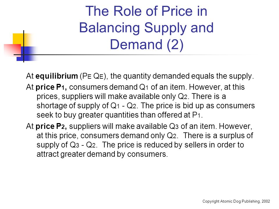 Copyright Atomic Dog Publishing, 2002 Chapter Summary The chapter defines the terms price and price planning.
