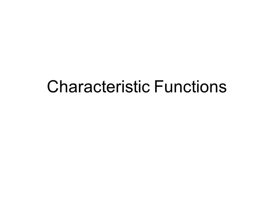 Better Solution Characteristic Functions