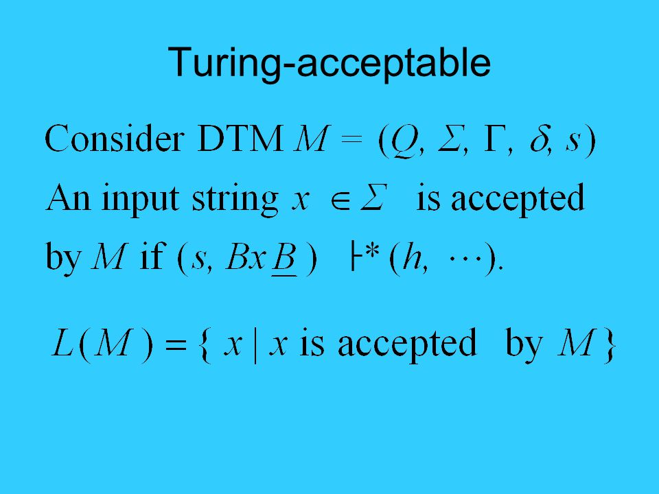 Turing-acceptable ├