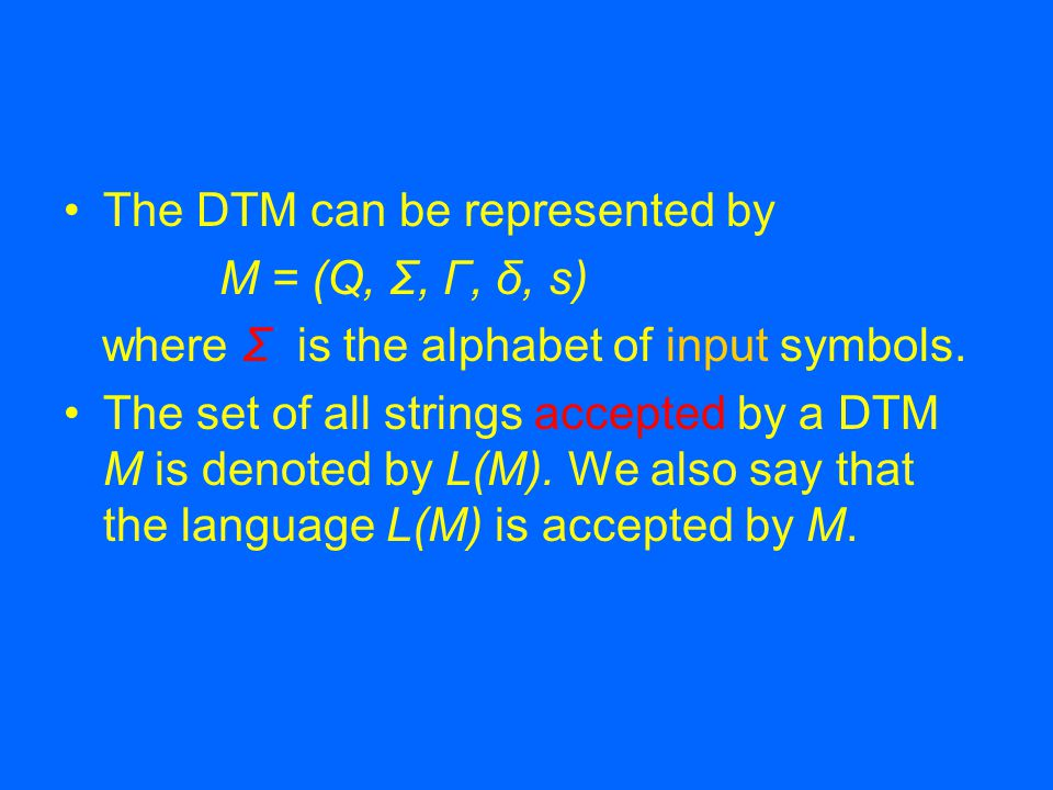The transition diagram of a DTM is an alternative way to represent the DTM.