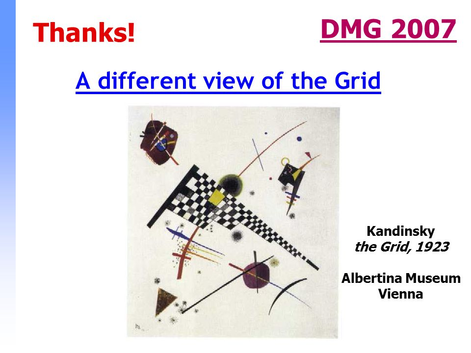 A different view of the Grid DMG 2007 Kandinsky the Grid, 1923 Albertina Museum Vienna Thanks!