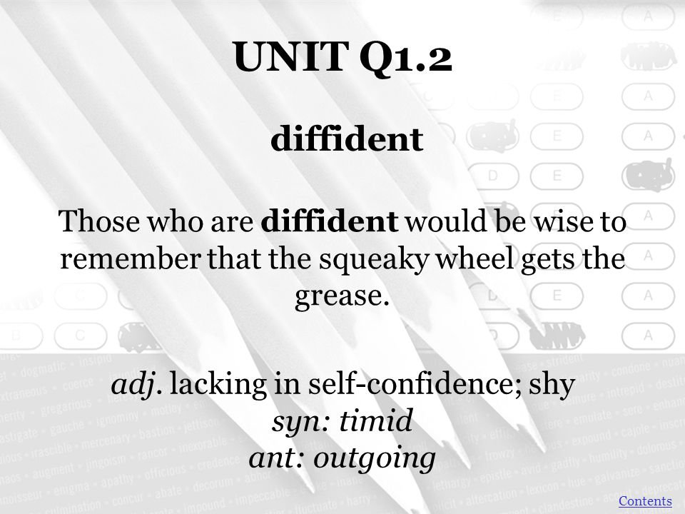 UNIT Q1.2 A dilettante has knowledge that's a mile wide and an inch deep.