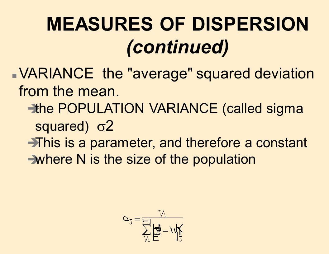 n S2 is the SAMPLE VARIANCE (called s- squared).