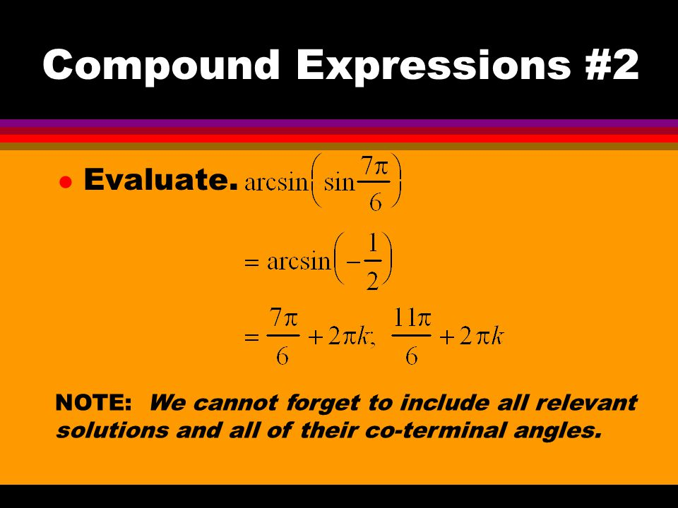 Compound Expressions #2 l Evaluate.