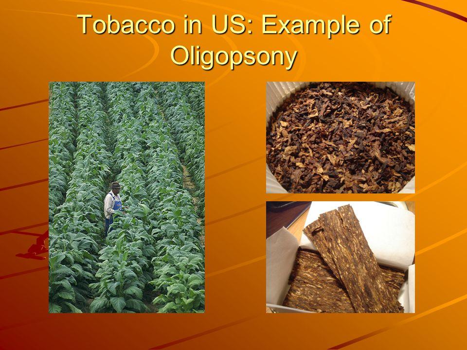 Tobacco in US: Example of Oligopsony