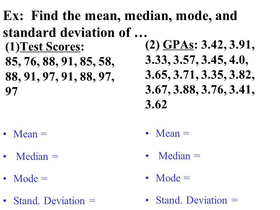 """Presentation """"UNIT 8:Statistical Measures Measures of Central ..."""