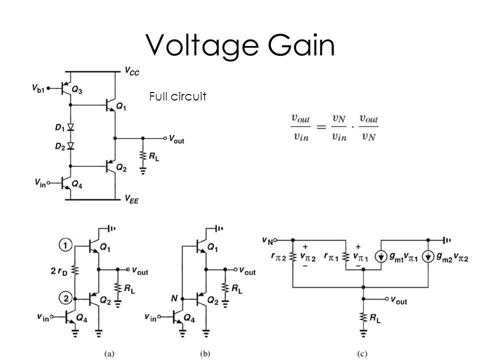 Voltage Gain Full circuit