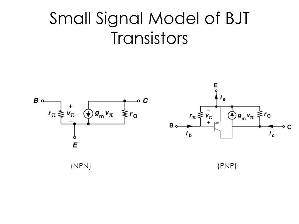 Small Signal Model of BJT Transistors (NPN)(PNP)