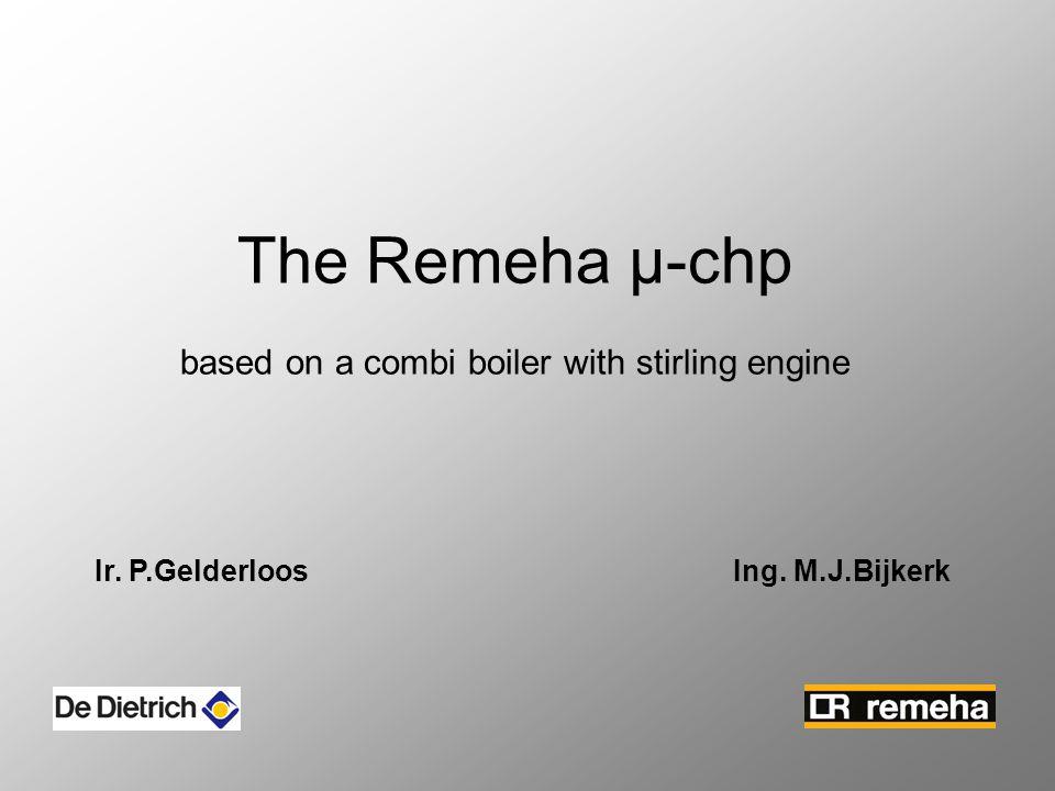 The Remeha µ-chp based on a combi boiler with stirling engine Ir. P.Gelderloos Ing. M.J.Bijkerk