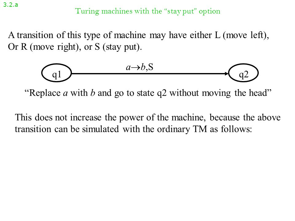 Variants of Turing machines Section 3.2 CSC 4170 Theory of Computation