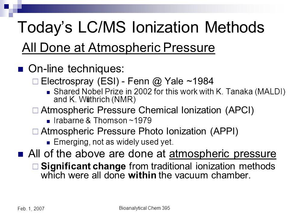 Bioanalytical Chem 395 Feb. 1, 2007 FTMS- Ion Cyclotrons (ICR)