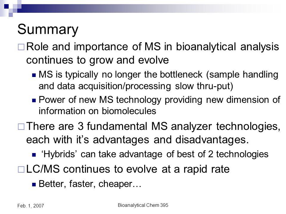 Bioanalytical Chem 395 Feb. 1, 2007 Ion Trap- TOF New Hybrid Design