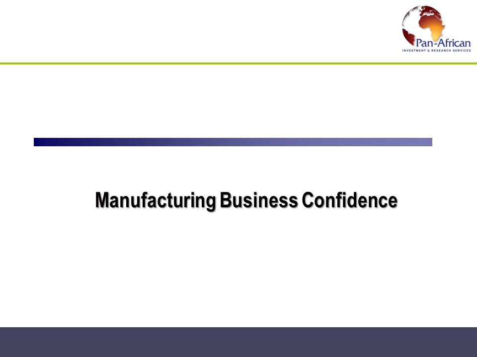 Manufacturing Business Confidence