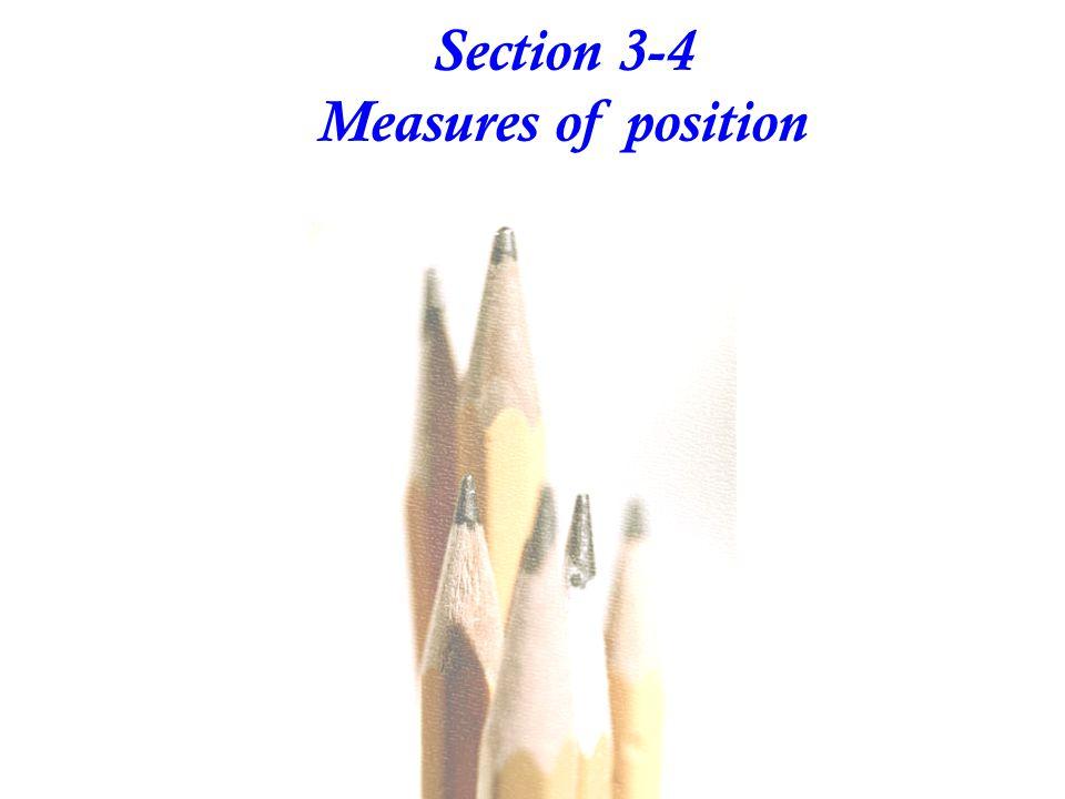  Interquartile Range (or IQR): Q 3 - Q 1  10 - 90 Percentile Range: P 90 - P 10  Semi-interquartile Range: 2 Q 3 - Q 1  Midquartile: 2 Q 3 + Q 1 Some Other Statistics