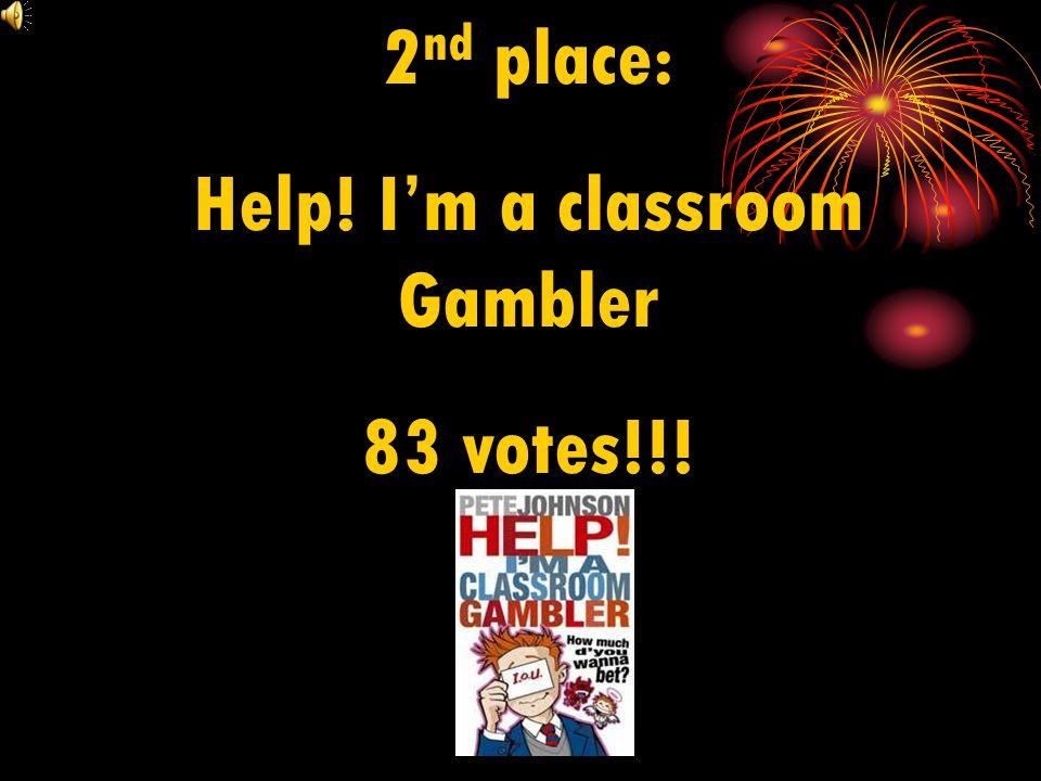 3 rd place: Jimmy Coates Killer 49 votes!!!