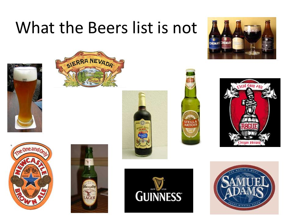 What the Beers list is not