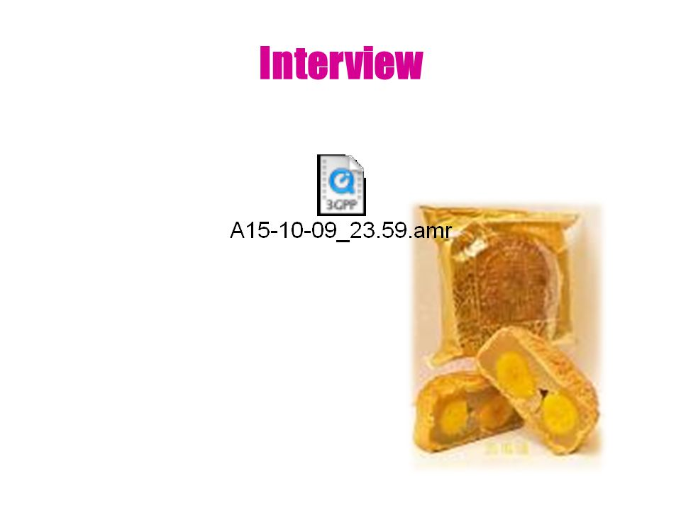 Summary of the Interview In this interview, it is mainly about the price of the moon cake before and after the Mid-Autumn Festival.