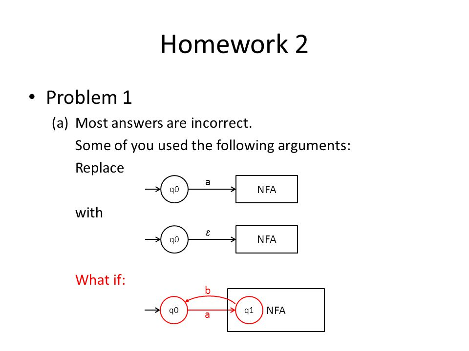 Homework 2 Problem 1 (a)Most answers are incorrect.