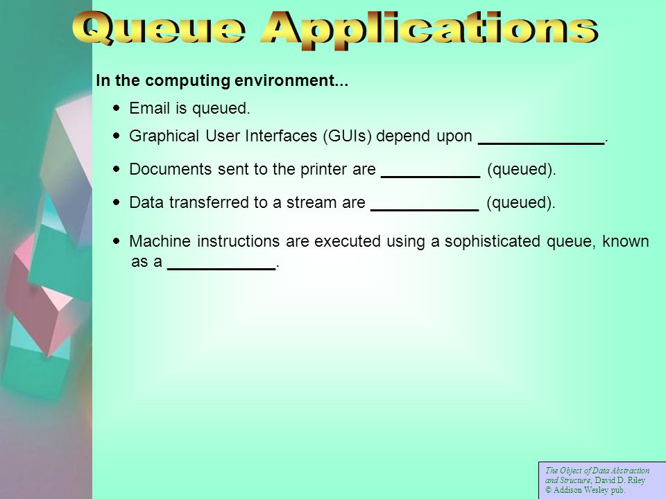 In the computing environment...   is queued.