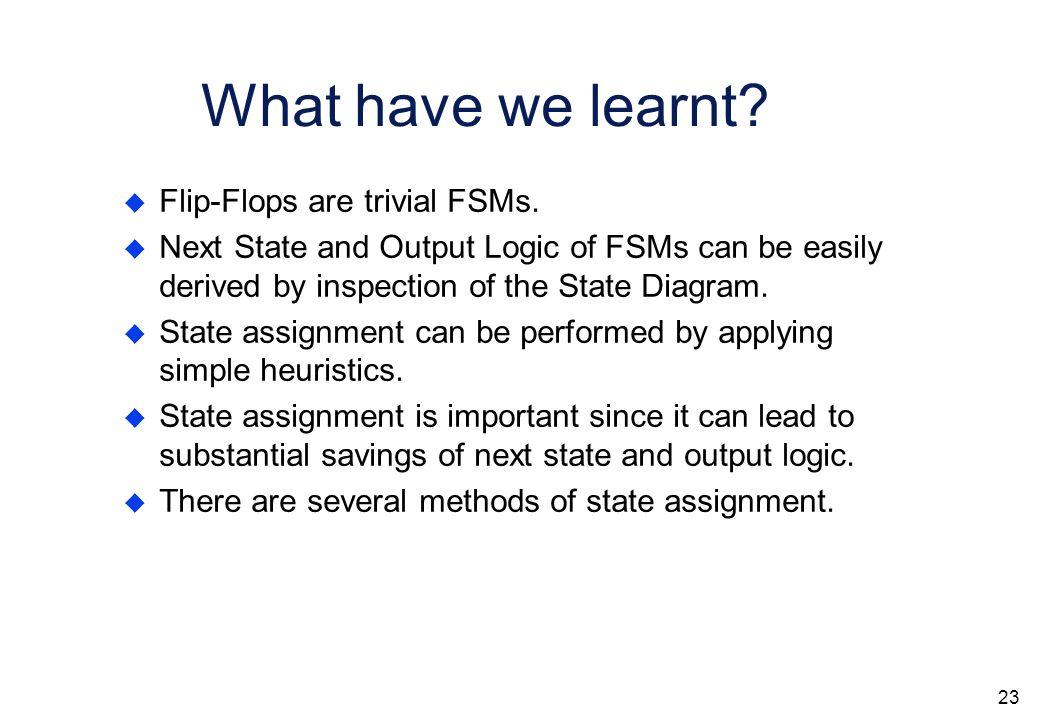 22 Design Flow of Finite State Machine design