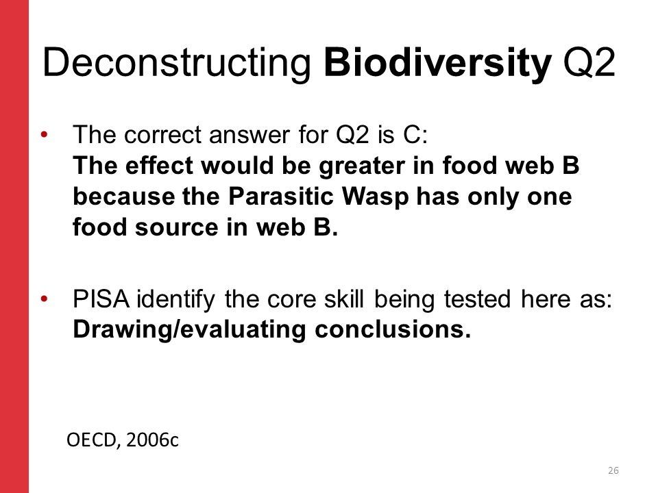 Corporate slide master With guidelines for corporate presentations Deconstructing Biodiversity Q2 The correct answer for Q2 is C: The effect would be greater in food web B because the Parasitic Wasp has only one food source in web B.