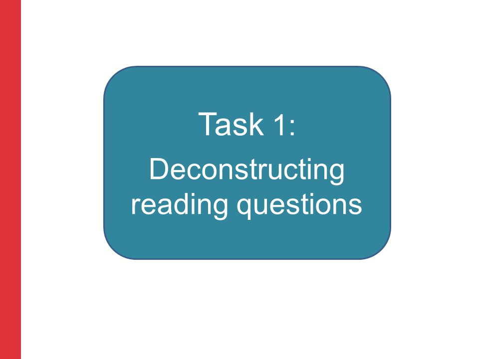 Corporate slide master With guidelines for corporate presentations Task 1: Deconstructing reading questions