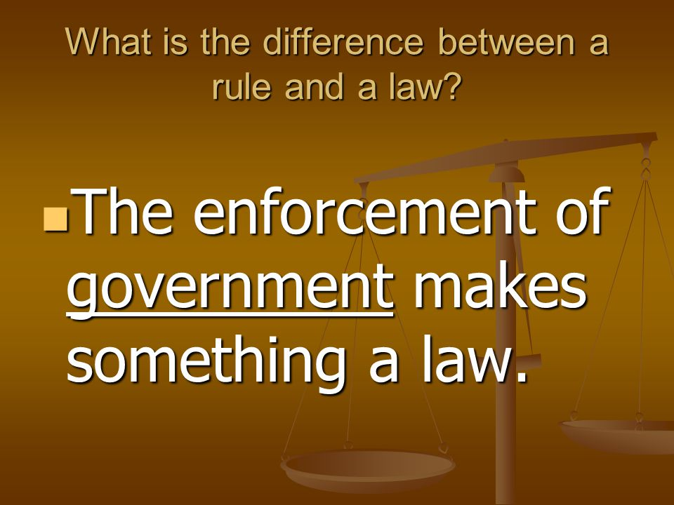 Why do we need law.