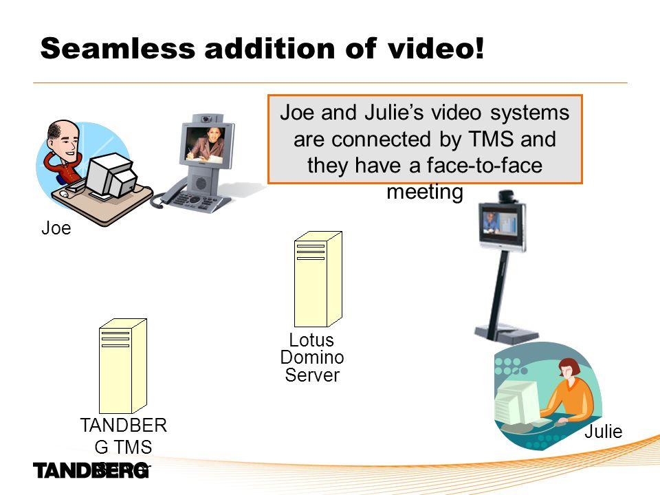 Joe Julie Seamless addition of video.