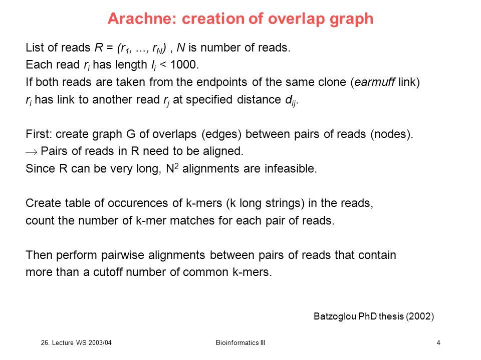 26.Lecture WS 2003/04Bioinformatics III45 The mouse genome.