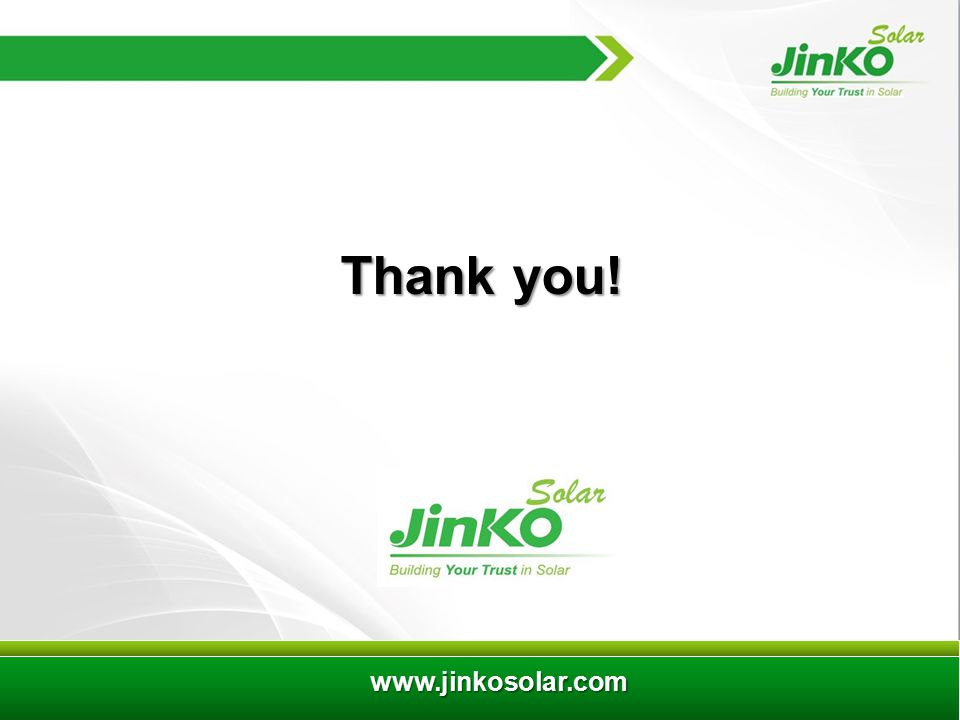 8 www.jinkosolar.com Thank you!