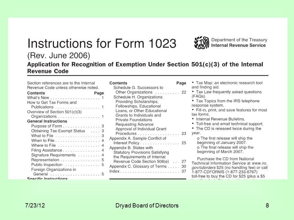 7/23/12Dryad Board of Directors8