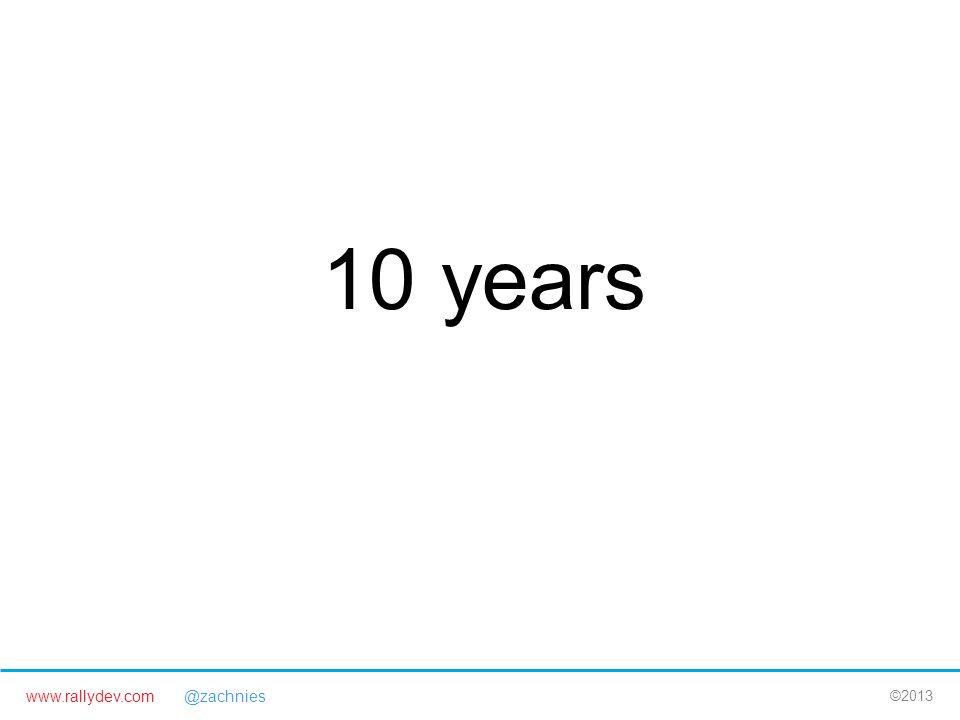 www.rallydev.com @zachnies ©2013 10 years