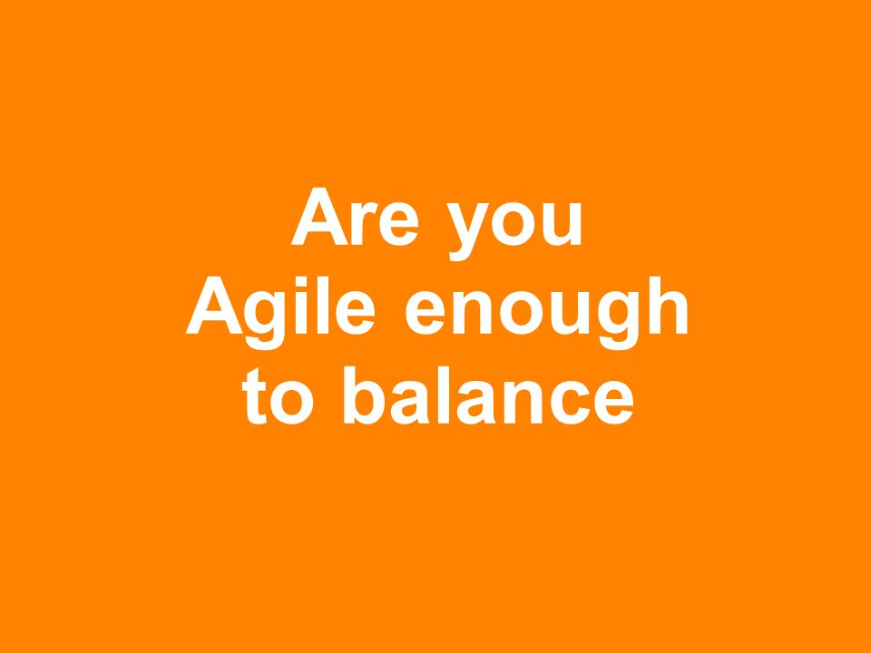 www.rallydev.com @zachnies ©2013 Are you Agile enough to balance