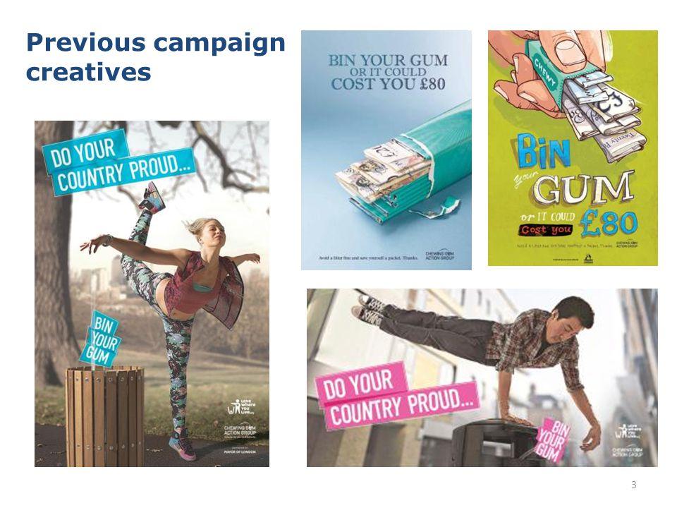 3 Previous campaign creatives