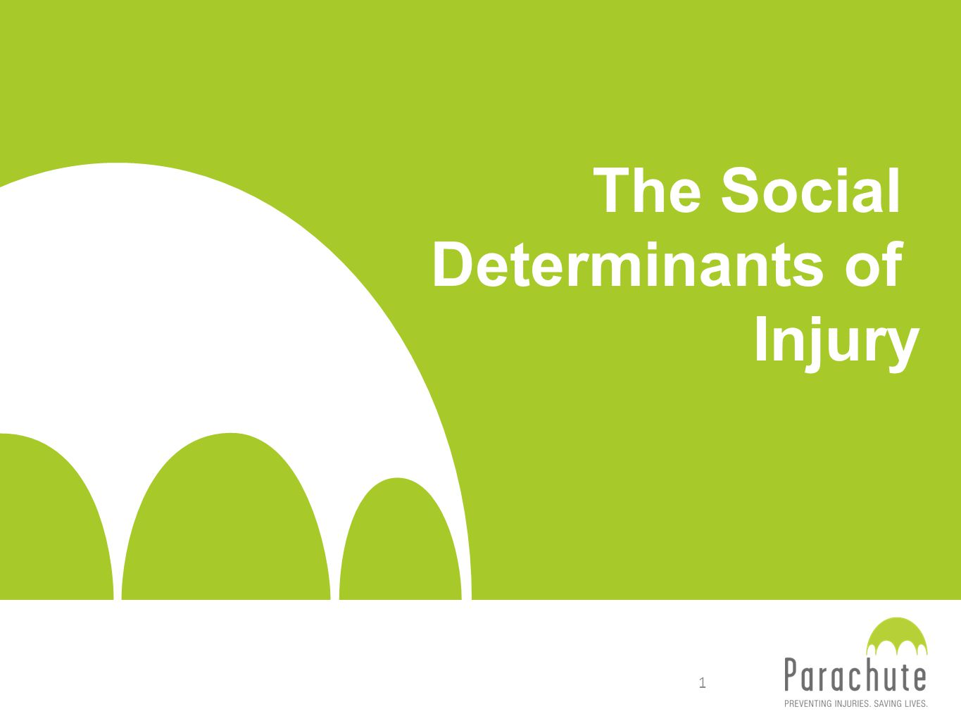 The Social Determinants of Injury 1