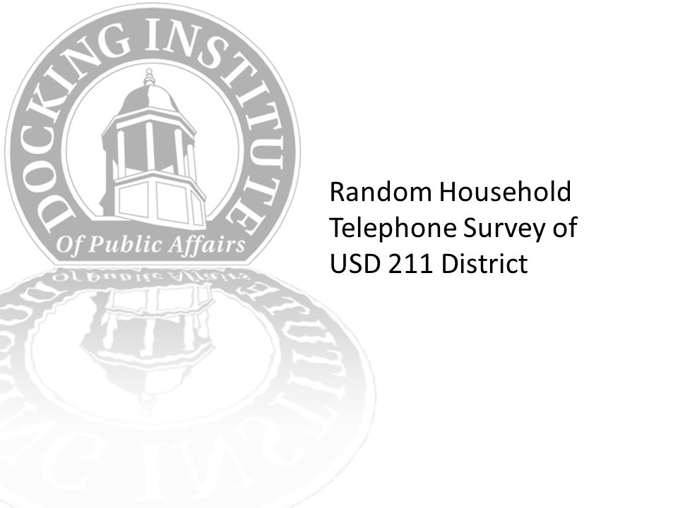 Random Household Telephone Survey of USD 211 District