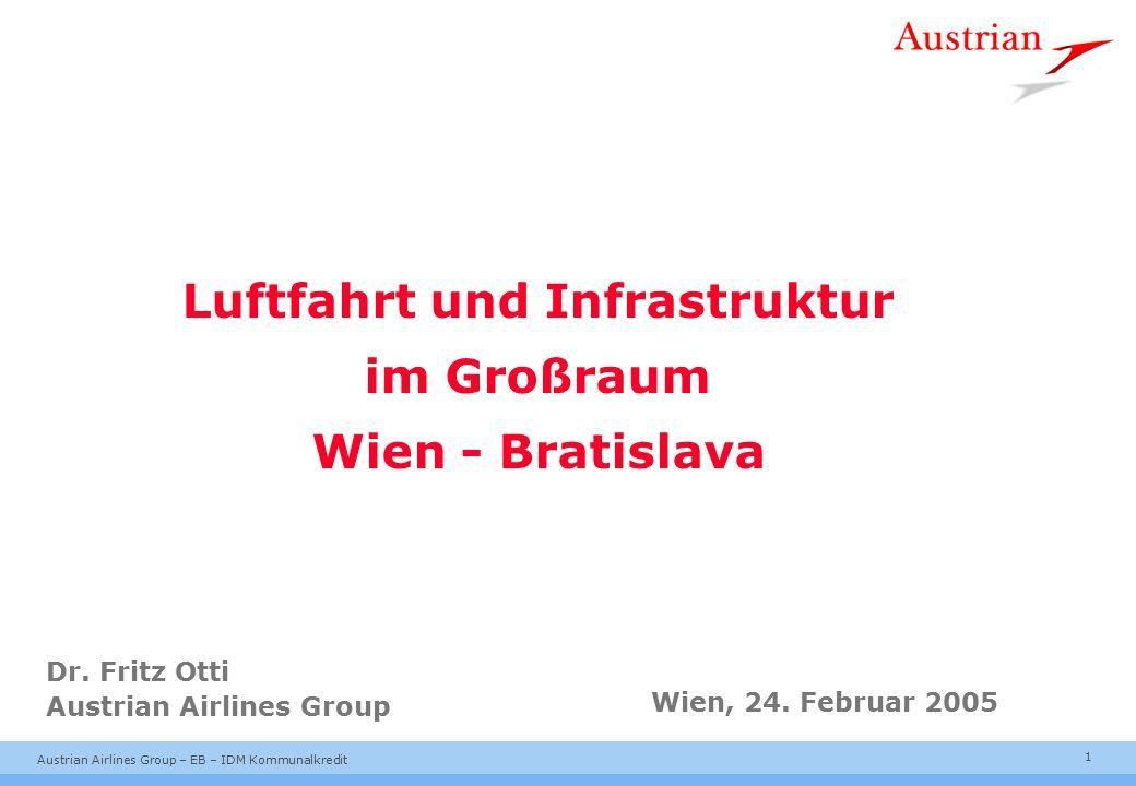 1 Austrian Airlines Group – EB – IDM Kommunalkredit Luftfahrt und Infrastruktur im Großraum Wien - Bratislava Dr.