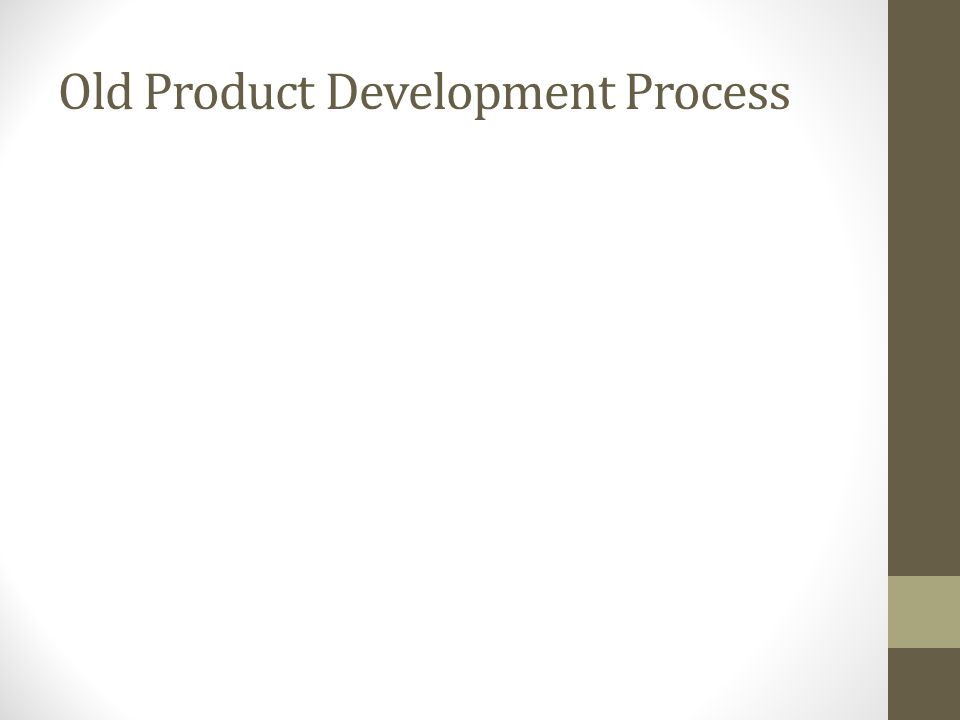 Old Product Development Process