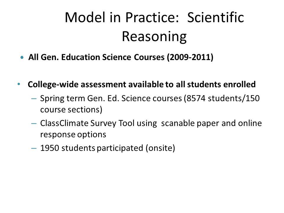 Model in Practice: Scientific Reasoning All Gen.