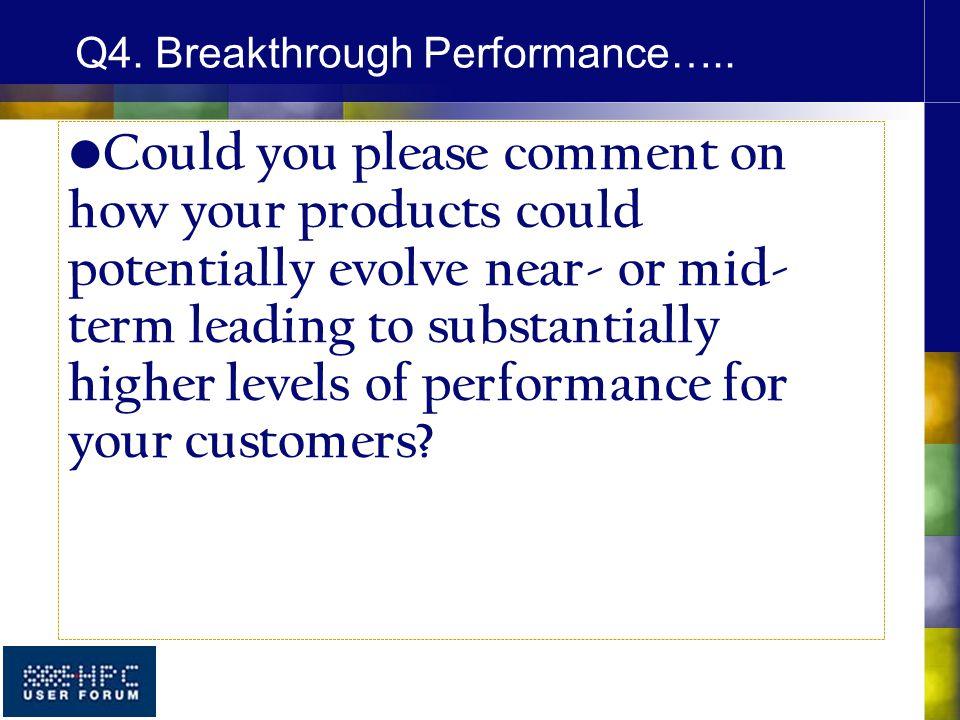 Q4. Breakthrough Performance…..