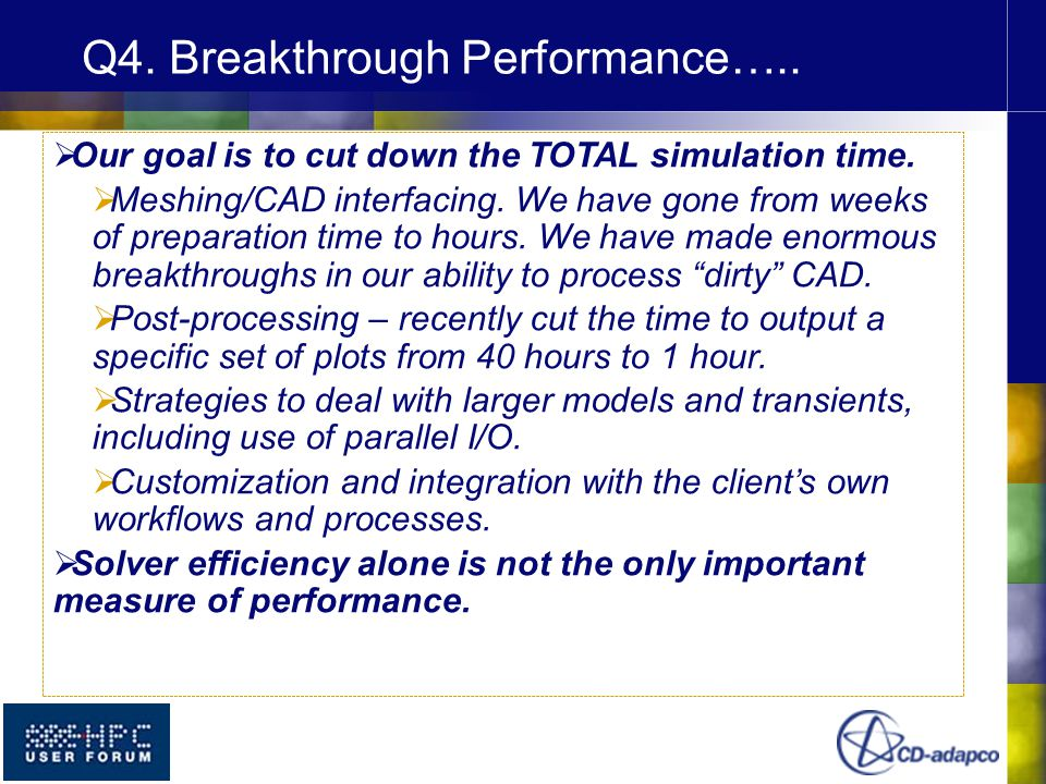  Our goal is to cut down the TOTAL simulation time.