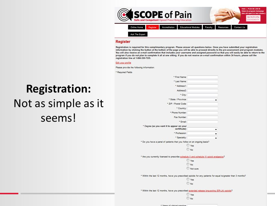 Registration: Not as simple as it seems!