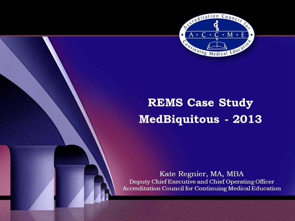 PARS currently… Data descriptive of CME activities provided by ACCME and some SMS- accredited providers Used by providers each year to enable ACCME to: –select activities for demonstration of Practice in Performance –create ACCME's Annual Report.