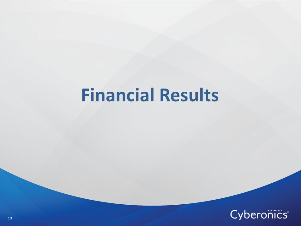 Financial Results 13