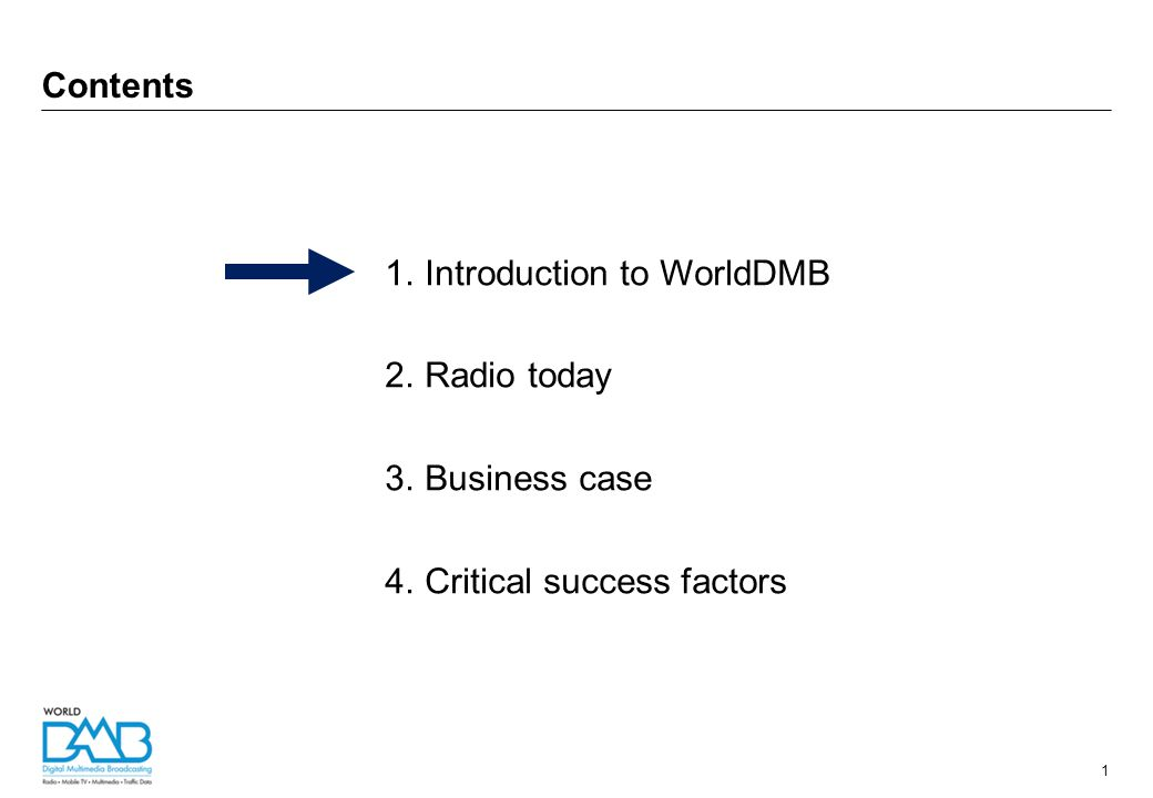 2 Not-for-profit membership organisation Developed DAB technical standards Promote digital radio (DAB / DAB+) around the world WorldDMB – who we are