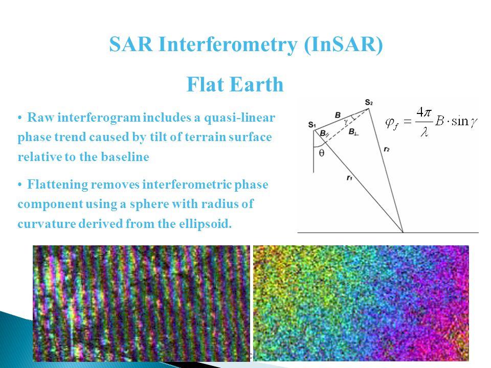 05/04/2015Corso presso Univ. della Calabria Raw interferogram includes a quasi-linear phase trend caused by tilt of terrain surface relative to the ba