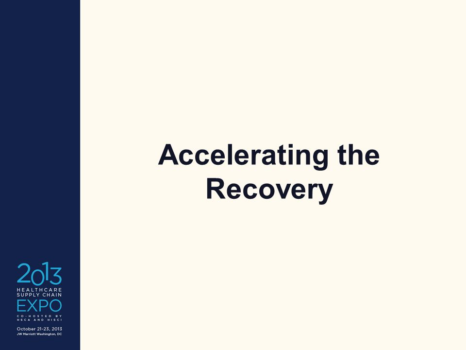 Accelerating the Recovery